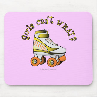Roller Derby Skate - Yellow Mousepads