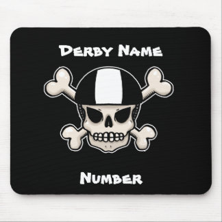 Roller Derby Skull and Crossbones Customisable Mouse Mats