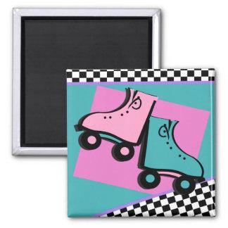 Roller Derby Square Magnet