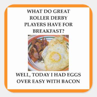 roller derby square sticker