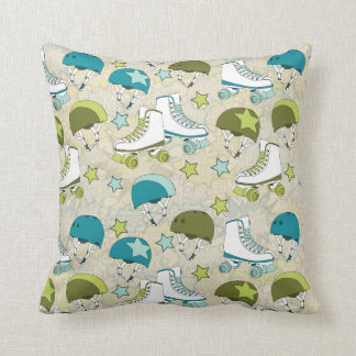 Roller Derby Throw Pillow