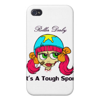 Roller derby tough sport iPhone 4 cases