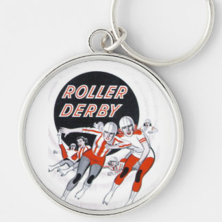 Roller Derby Vintage Program - Key Chain