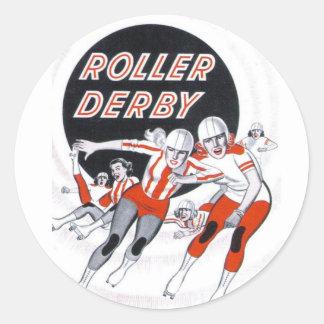 Roller Derby Vintage Program Sticker