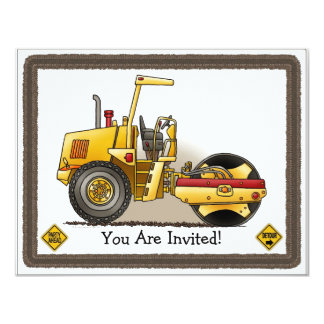 Roller Equipment Kids Party Invitation