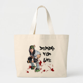 Roller Girls BREAK NECKS Large Tote Bag
