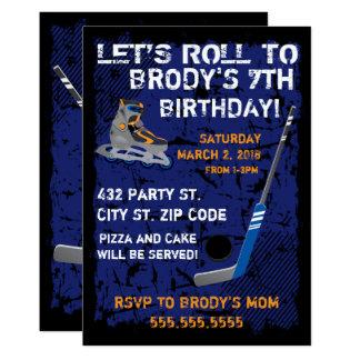 Roller Hockey Birthday, 5x7 Invitation