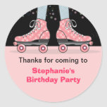 Roller Skate Birthday Party Thank You Sticker