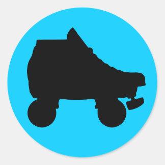 roller skate classic round sticker