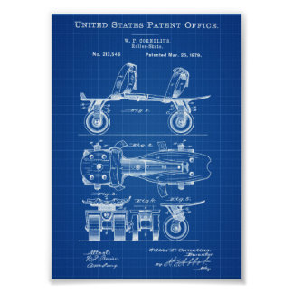 Roller Skate Patent - Roller Skate Art, Sports Art Poster