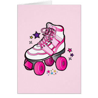 Roller Skate Thanks for Coming to Party and Gift Card
