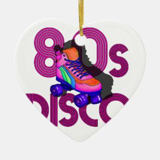Roller Skater 80s Ceramic Heart Ornament