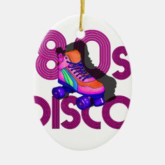 Roller Skater 80s Ceramic Oval Ornament