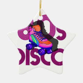 Roller Skater 80s Ceramic Star Ornament