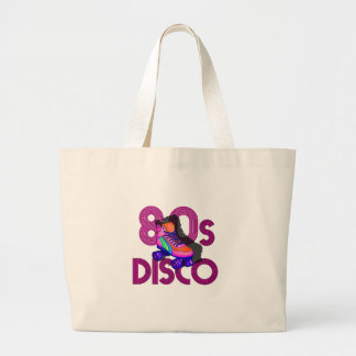 Roller Skater 80s Large Tote Bag