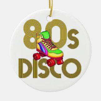 Roller Skater 80s Round Ceramic Ornament