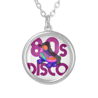 Roller Skater 80s Silver Plated Necklace