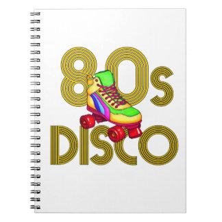 Roller Skater 80s Spiral Notebook