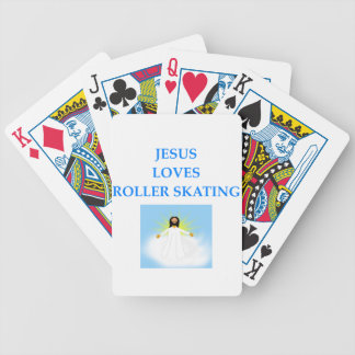 roller skating bicycle playing cards