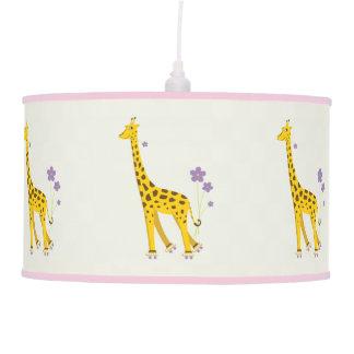 Roller Skating Funny Giraffe Pendant Lamp
