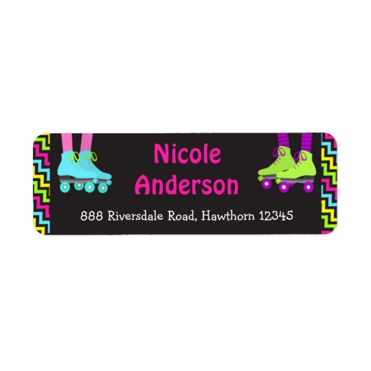 Roller Skating Return Address Labels