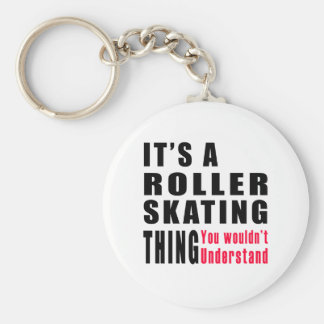 Roller Skating Thing Designs Keychain
