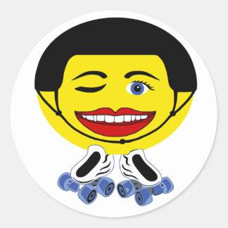 roller smiley classic round sticker