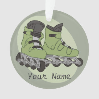 Rollerblade Skates Personalized Name Ornament