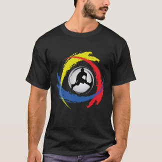 Rollerblading Tricolor Emblem T-Shirt