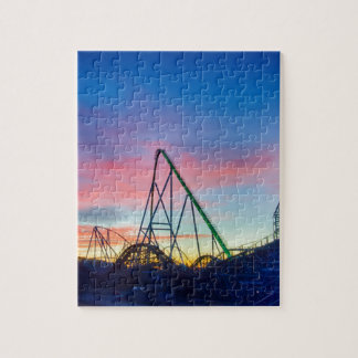 rollercoaster amusement ride jigsaw puzzle