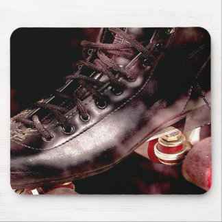 Rollerskate Roller Derby Grunge Style Mouse Pad