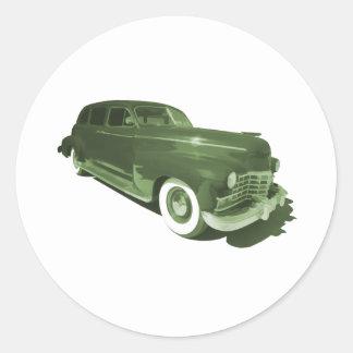 Rollin in a Cadillac Round Sticker