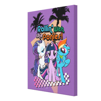 Rollin' with the Ponies Canvas Print