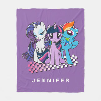 Rollin' with the Ponies Fleece Blanket