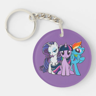 Rollin' with the Ponies Keychain