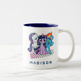 Rollin' with the Ponies Two-Tone Coffee Mug