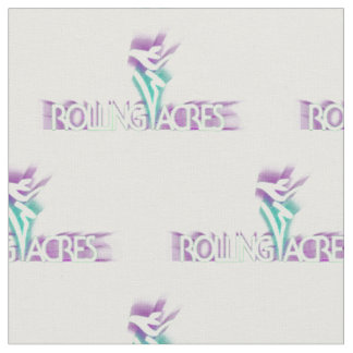 Rolling Acres logo fabric