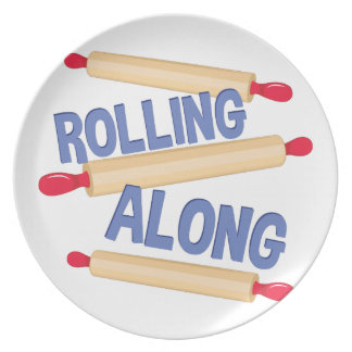 Rolling Along Party Plate