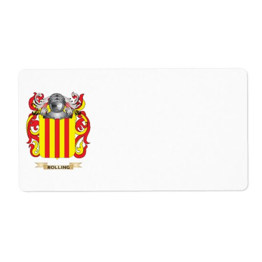 Rolling Coat of Arms (Family Crest) Personalized Shipping Label