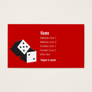 Rolling Dice Business Card