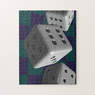 Rolling Dice Jigsaw Puzzle