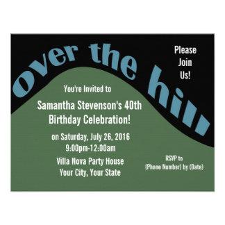 Rolling Downhill 40th Birthday Custom Invitations