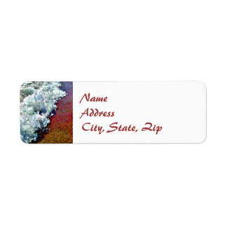 """Rolling Froth"" Return Address Label"