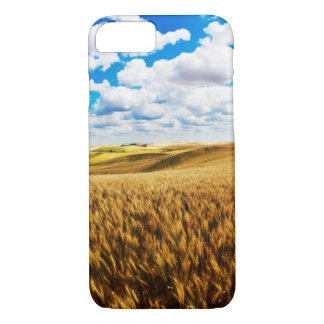 Rolling hills of ripe wheat iPhone 7 case