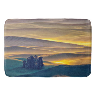 Rolling Hills of Wheat at Sunrise | WA Bath Mat