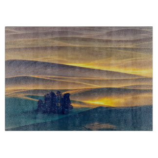 Rolling Hills of Wheat at Sunrise | WA Cutting Board