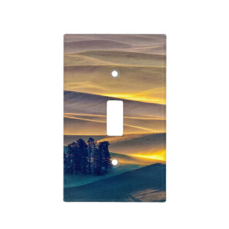 Rolling Hills of Wheat at Sunrise | WA Light Switch Cover