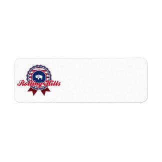 Rolling Hills, WY Custom Return Address Labels