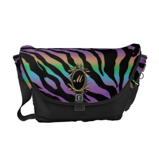 Rolling in Rainbows ~ Monogram Psychedelic Tiger Messenger Bags