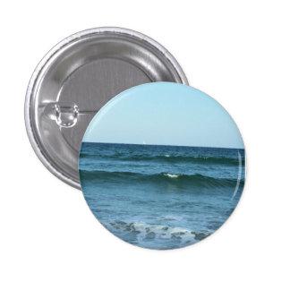 Rolling Ocean Waves 1 Inch Round Button